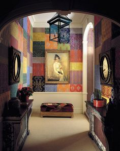 patchwork wall paper (design by Peregalli)
