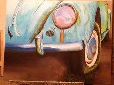 My painting of an old VW beetle. I have yet to take a better picture of it.