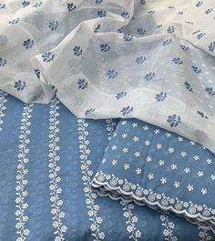 Pakistani Dresses Casual, Indian Fashion Dresses, Indian Outfits, Designer Punjabi Suits, Indian Designer Outfits, Embroidery Suits, Embroidery Patterns, Chikankari Suits, Fabric Photography