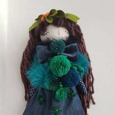 16 Forest Princess Rag Doll OOAK Doll Brown Hair #thedollsunique #doll #dollmaker #handmade #handmadedoll