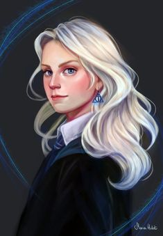 luna lovegood deathly hallows ravenclaw harry potter fan art wizarding world wizard witch hogwarts magic fantasy jk rowling potterhead Fanart Harry Potter, Harry Potter Sketch, Harry Potter Artwork, Harry Potter Drawings, Harry Potter Wallpaper, Harry Potter Facts, Harry Potter Characters, Harry Potter Universal, Harry Potter World