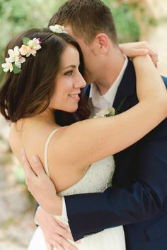 Sweet floral crown: http://www.stylemepretty.com/little-black-book-blog/2014/10/06/charming-south-of-france-wedding-at-le-foulon/ | Photography: Anna Roussos - http://www.annaroussos.com/