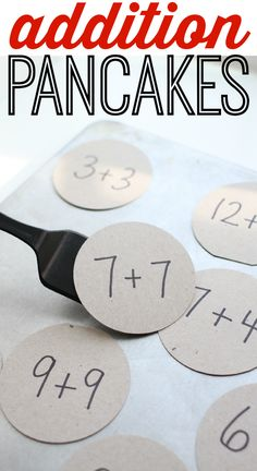 Addition Pancakes, a playful way to practice math facts with kids. From I Can Teach My Child