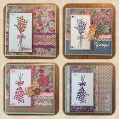 Zo wat een leukerds weer!!  Cs0967 Marianne Design. (Ingekleurd met soft pastels.) Paperblok floral delight van Sara Davies. Stansjes Hoera, knuffels, groetjes en Xxx-jes van De'sire. Verkrijgbaar bij Elma's hobbyshop.