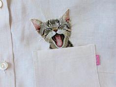 """A artista japonesa do ramo de bordados Hiroko Kubota estava no processo de confecção de roupas para seu pequeno filho quando ele fez um pequeno pedido:  """"Algumas camisas poderiam ter gatinhos bordados nelas?""""  - See more at: http://tempestuoso.com/#sthash.LTNZwtAp.dpuf"""