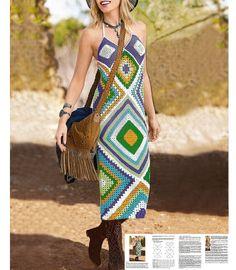 Crochet maxi dress PATTERN beach dress by OnlyFavoritePATTERNs
