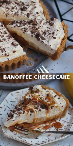 Banoffee Cheesecake, Banana Cheesecake, Cheesecake Desserts, Cheesecake Bites, Cheesecake Squares, Classic Cheesecake, Homemade Cheesecake, No Bake Cheesecake, Cheesecakes
