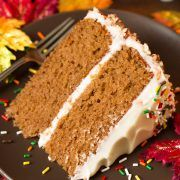 Autumn Spice Cake with Cream Cheese Frosting - it's DREAMY! Incredibly moist and tender, and perfectly spiced. This cake and my pumpkin cake are my FAVORITE fall cakes! Spice Cake Recipes, Pumpkin Recipes, Baking Recipes, Dessert Recipes, Recipe Spice, Pie Recipes, Fall Recipes, Holiday Recipes, Fall Desserts