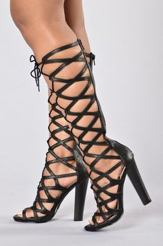 Gladiator Heels Black Kitten