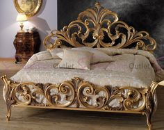 Italian Bedroom Design And Decorating Ideas For Classic Home Baroque Furniture, Gold Furniture, Classic Furniture, Home Decor Furniture, Luxury Furniture, Living Room Furniture, Furniture Design, Rustic Furniture, Furniture Layout