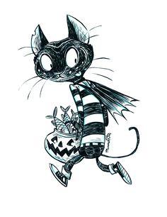 Inktober Cat #7 by RobbVision.deviantart.com on @deviantART