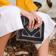 Upgrade your boho looks with black & white fabric envelope! Shop now ► Black And White Fabric, Black White, Fabric Envelope, Retro Summer, Boho Look, Chanel Boy Bag, Fabric Material, Shop Now, Campaign