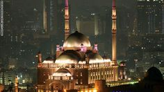 Egypt at night ; Mohammed Ali mosque