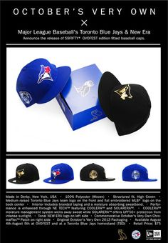 """""""October's Very Own"""" limited edition Octobers Very Own, New Era Cap, Drake, Toronto, Cool Stuff, Blue, Style, Swag, New Era Hats"""