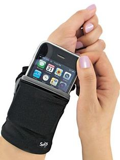 "$16.98 Phone Wrist Wallet: Ideal for travel, trips to the gym, jogging or shopping, it even fits under a sleeve. Holds cash, keys and cards, too. Holds phones up to 5""Lx2-1/2""Wx1/2""D, including all iPhones®. Polyester/spandex. Machine washable."