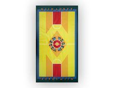 Robert Indiana poster, 1977. Mecca floor.