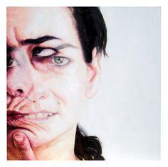 lorena teruel- in-sight 2011 - óleo sobre madera Computer Lessons, Multiple Images, A Level Art, Arts Ed, Gcse Art, Human Emotions, Phobias, Elements Of Art, Art Portfolio