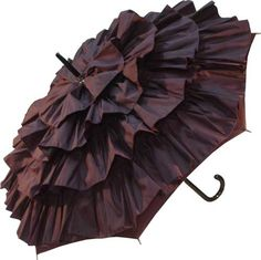 Tiered ruffle umbrella