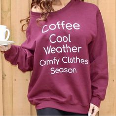 Is It Still Chilly In Your Area?   This Ultra Soft Coffee- Cool Weather- Comfy- Clothes Season Pull Over Sweat Shirt Is The Best Way To Bundle Up On Those Brisk Days ❄️☕️ Head Over To MijaveeBoutique.com To Grab Yours Now 😉   #ABoutiqueWithAPurpose #Coffee #CoolWeather #ComfyClothes #MijaveeBoutique