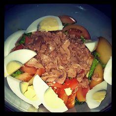 Spicy Tuna Chef Salad #healthy #foodporn