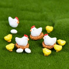 Find More Figurines & Miniatures Information about Zakka Resin Mini Chicken Family Craft Micro Fairy Garden Gnome Miniatures figurines Material Toy Ornament Terrarium Accessories,High Quality accessories bag,China toy blade Suppliers, Cheap accessories running from INKA on Aliexpress.com