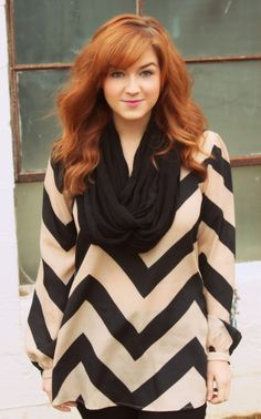 Comfy Chevron Top and Infinity Scarf