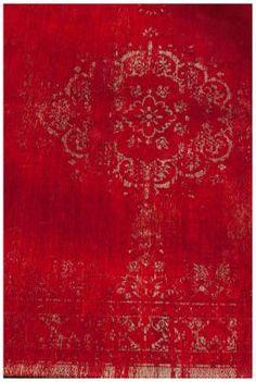 Orientteppich Muster | gefärbt gewebt |  Vintage-Teppich - Bild vergrößern #rot #wohnzimmer #esszimmer #wohnen #arbeitszimmer #schlafzimmer #diele