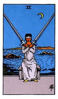 2 de Espadas, Significado de las cartas del Tarot