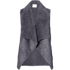Velvet by Graham and Spencer Analucia Drape Vest ($155) ❤ liked on Polyvore featuring outerwear, vests, vest, jackets, gilet, grey, draped vests, velvet vest, vest waistcoat and grey vest