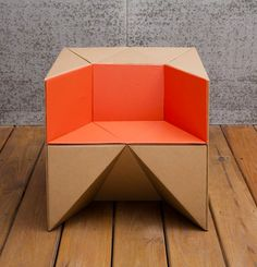 hello, Wonderful - FLEXIBLE CARDBOARD CHAIR FOR KIDS FROM S-CUBE