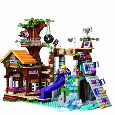 Cheap house building blocks, Buy Quality building blocks directly from China lego series Suppliers: BELA Friends Series Adventure Camp Tree House Building Blocks Classic For Girl Kids Toys Marvel Compatible Legoe Lego Disney, Lego Design, Lego City, Legos, Lego Lego, Lego Ninjago, Lego Building, Model Building, House Building