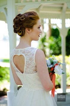 Ivory lace wedding dress lace bodice and tulle by MichyLouDotCom, $250.00