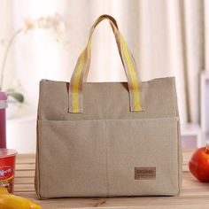 Popular Sale Lunch Bags Cooler Insulated Lunch Bag Thermal Canvas Lunch Carry Storage Picnic Bag Pouch Bolsa Termica