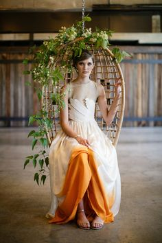 Dip Dyed Wedding Dress, love the idea just not the color here