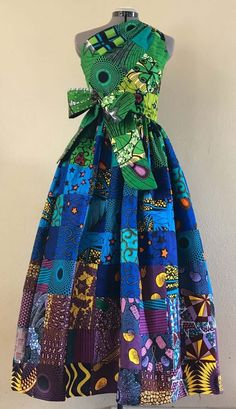 African Inspired Fashion, African Print Fashion, Ethnic Fashion, Fashion Prints, Africa Fashion, Afrocentric Clothing, African Wear Dresses, Patchwork Dress, Fashion Outfits