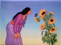 R C Gorman Stella de Oro Crystal Ceramic Sunflower Art Tile Southwestern Gift   eBay