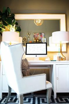 Home Office Design, Home Office Decor, Desk Office, Office Spaces, Office Chairs, House Design, Interior Exterior, Interior Design, Interior Office
