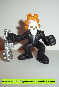 Marvel Super Hero Squad GHOST RIDER complete Grey undershirt pvc action figures