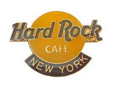 New York HARD ROCK CAFE Logo vintage lapel cloisonne enamel pinback tie hat pin Gift Creations