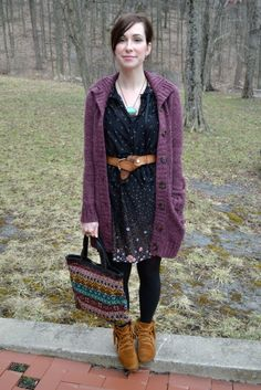 Shoes and the bag= bleccch  Dress + Cute cardy? = win