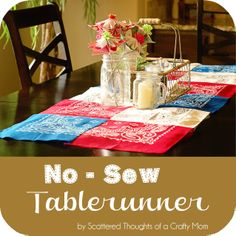 No-sew table runner tutorial - cheap and easy for holidays