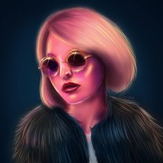 Lily-Rose Depp by Jessica Guetta. http://jessicaguetta.tumblr.com/  #lilyrosedepp #lilyrose #depp #chanel #digital #painting #art