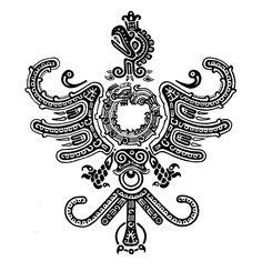 Aztec phoenix tattoo design