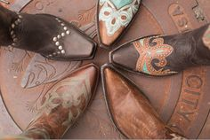 Cowgirl Boots!! The kids on my livestock judging teem and I took a pic like this