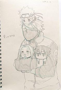 Anime Naruto, Naruto Sasuke Sakura, Naruto Cute, Naruto Shippuden Anime, Anime Chibi, Manga Anime, Boruto, Gara Naruto, Kurama Naruto