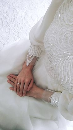 You will find different rumors about the history of the wedding dress; Muslimah Wedding Dress, Wedding Hijab, Modest Wedding, Wedding Bride, Wedding Gowns, Dream Wedding, Wedding Day, Simple Hijab, Wedding Rituals