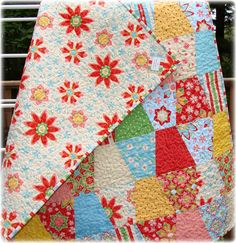 "Quilt for baby girl ""Delighted""fabric-Riley blake"