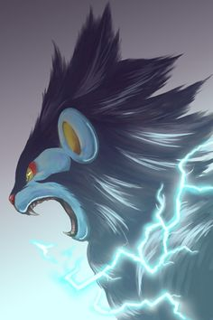 An intense picture of Luxray by request.