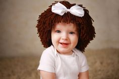 Crochet Cabbage Patch Hair Beanie Hat - etsy $29.95