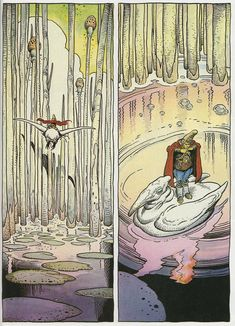 Page #2. Arzaq short story by Moebius and William Stout. 1996